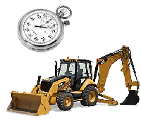 Excavator/Generator Service Hours Tracking